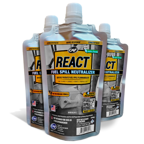 REACT Rapid Response Fuel Spill Neutralizer