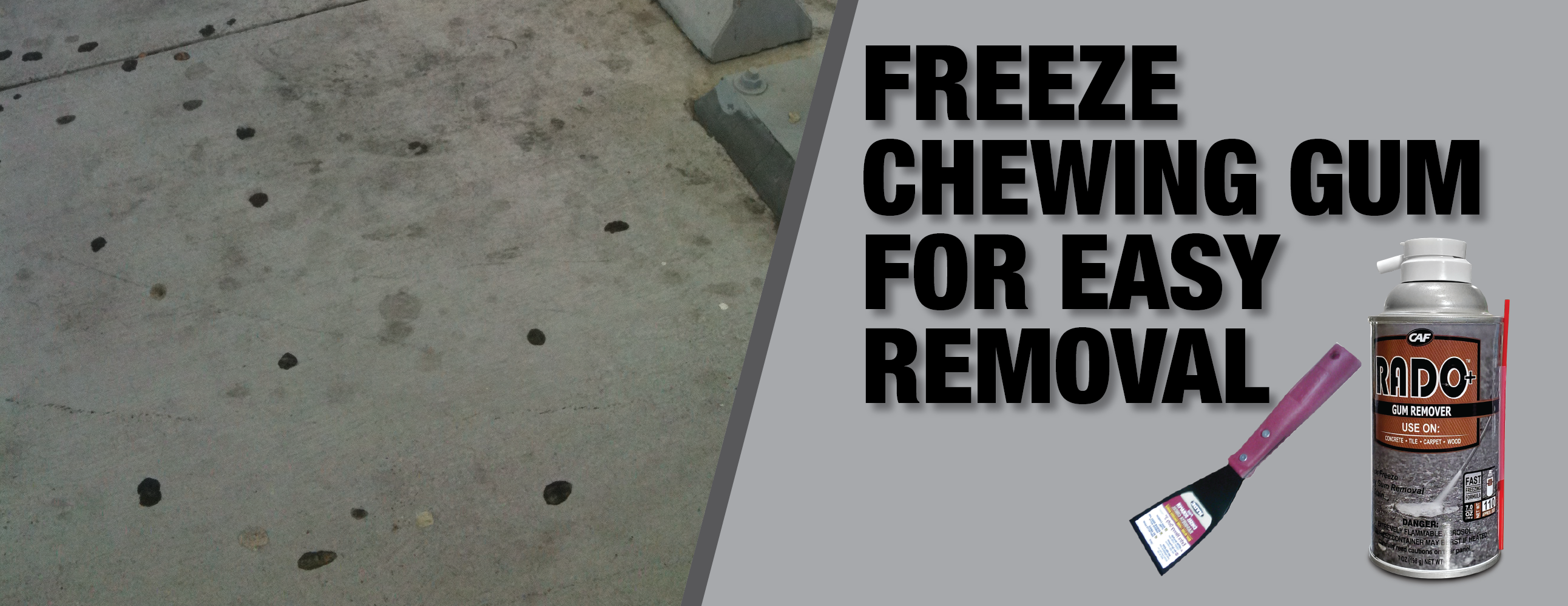 Chewing Gum Remover: No more sticky mess on concrete!