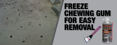 How to Remove Gum from Concrete and Other Surfaces