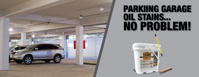 How to Remove Oil Stains from Parking Garage