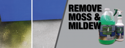 Outdoor Moss and Mildew Stain Remover for Multiple Surfaces