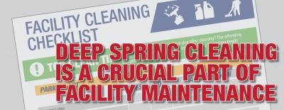 Spring Cleaning Facility Maintenance Checklist for Facility Managers
