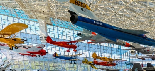 Planes in Boeing Museum