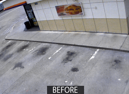 asphalt cleaner FORO parking lot before