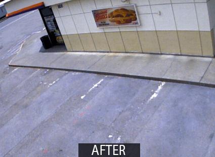 asphalt cleaner FORO parking lot after