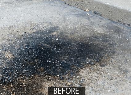 asphalt cleaner FORO oil spot before