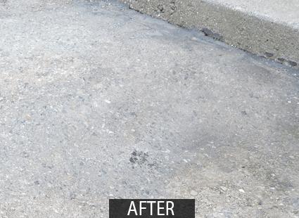 asphalt cleaner FORO oil spot after