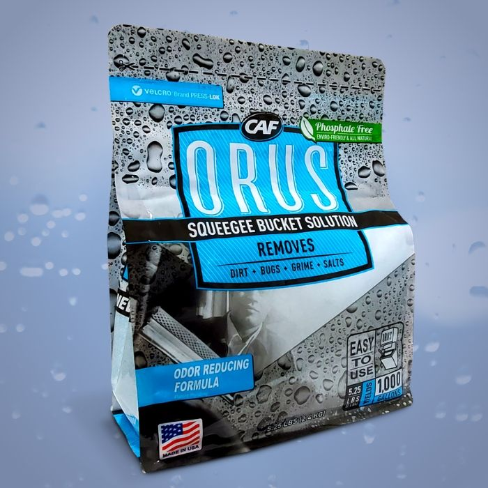 orus ultra concentrated glass cleaner squeegee bucket solution