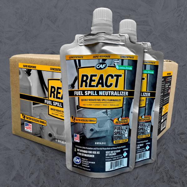react rapid response fuel spill neutralizer
