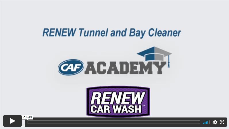 CAF Academy Renew Car Wash Tunnel Cleaner