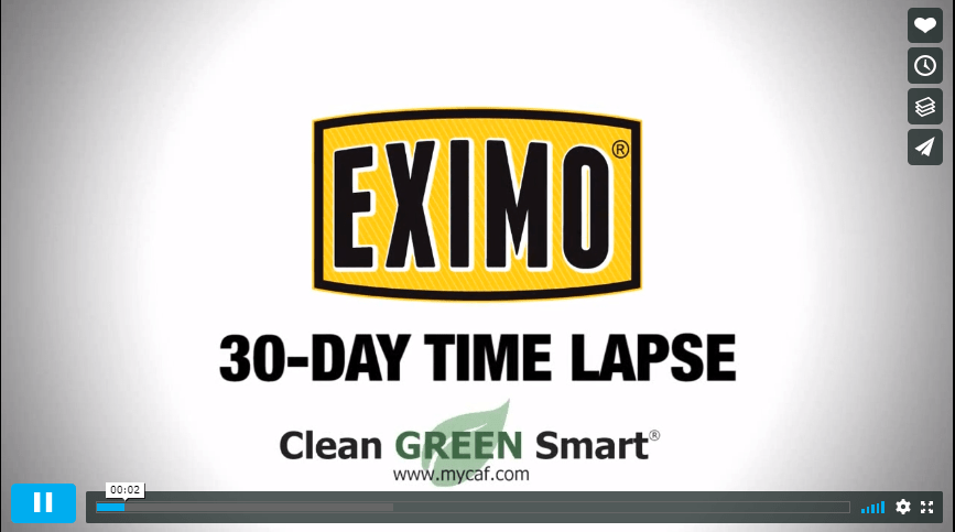Eximo time lapse best concrete cleaner