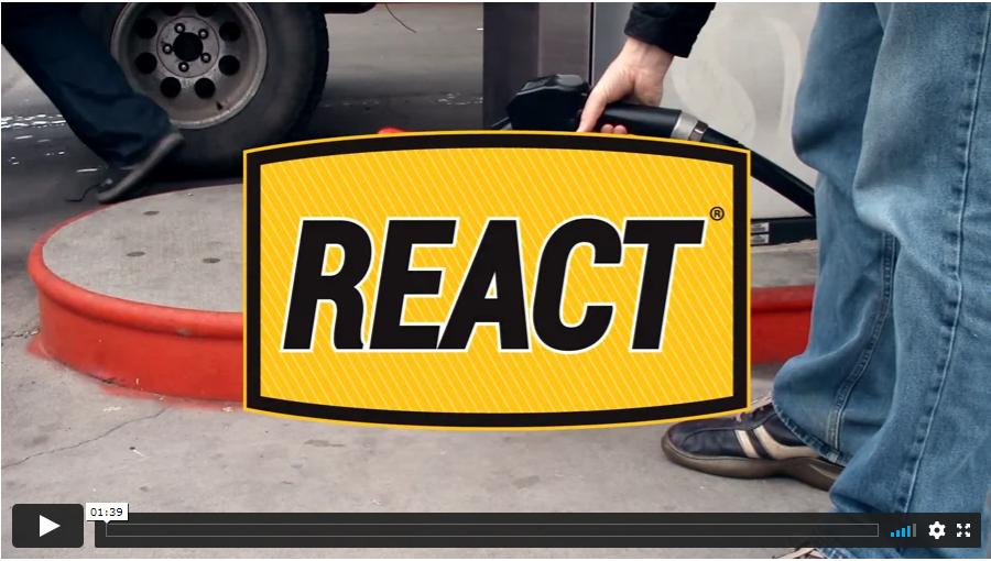 REACT video REACT Fuel Spill Neutralizer