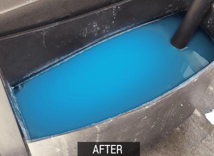 frigo after no more frozen squeegee buckets