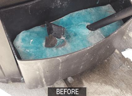 frigo before frozen squeegee buckets
