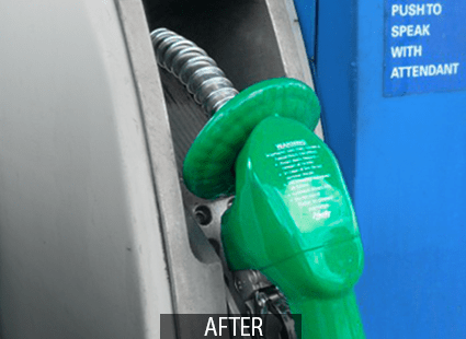 clean gas pump after Otis multi-surface cleaner