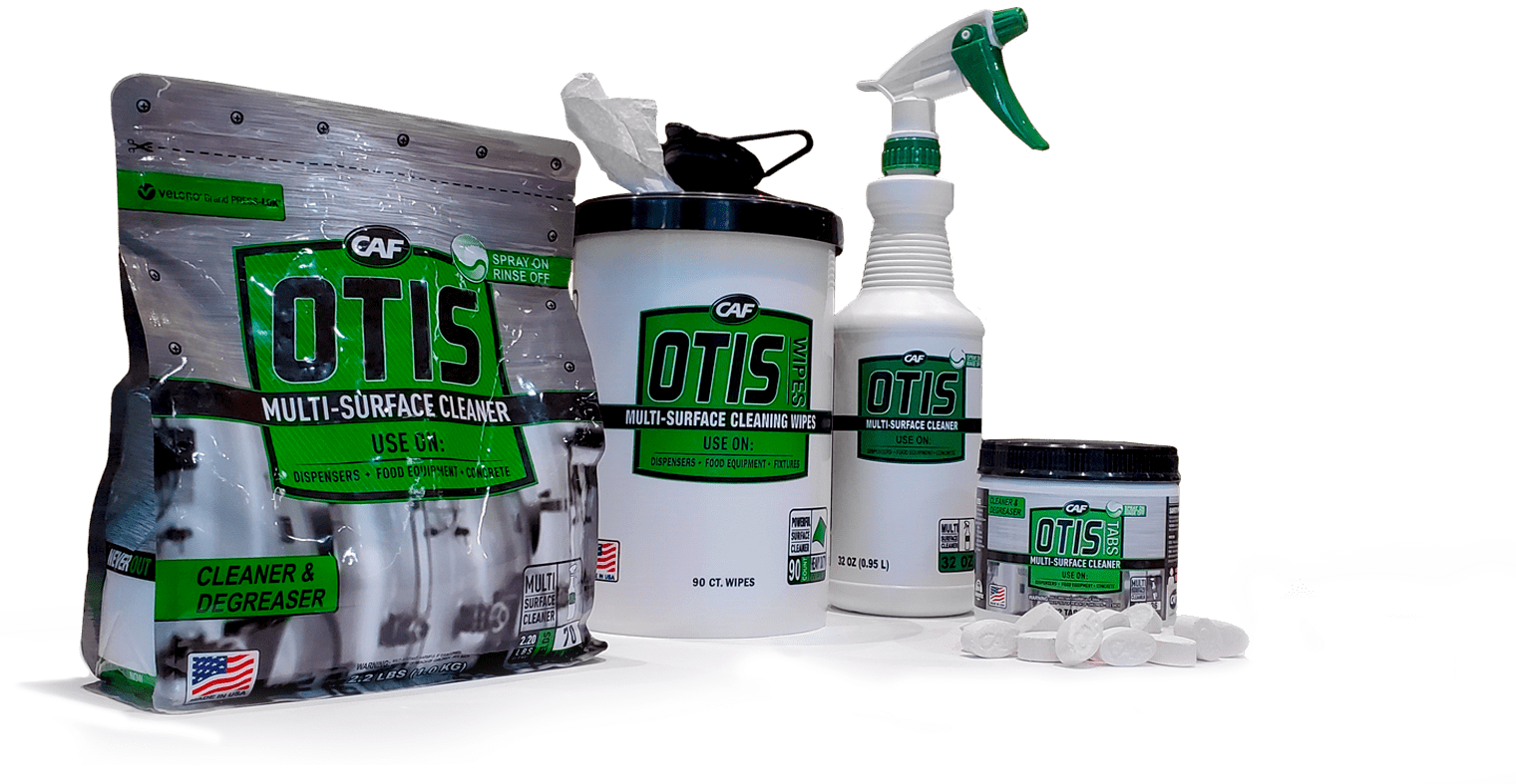 Otis multisurface cleaner lineup