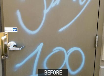 vivx before graffiti remover