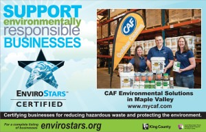 CAF Green Team featured in local advertising for EnviroStars Program.
